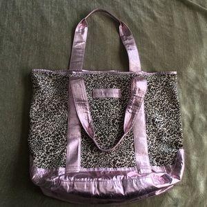 Great leopard print and pink Victoria's Secret bag